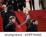 Small photo of Faith Akin, Diane Kruger, Numan Acar and Ulrich Brandhoff attend the 'In The Fade (Aus Dem Nichts)' premiere during the 70th Cannes Film Festival at Palais on May 26, 2017 in Cannes, France.
