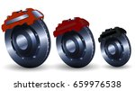 realistic steel brake disk with ... | Shutterstock .eps vector #659976538