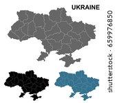 detailed map of ukraine in grey ... | Shutterstock .eps vector #659976850