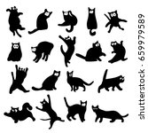 set funny illustration of black ...   Shutterstock .eps vector #659979589