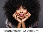 beautiful woman smiling | Shutterstock . vector #659981074
