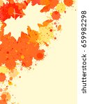 bright orange watercolor paint... | Shutterstock . vector #659982298