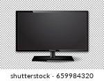 flat tv screen realistic vector ... | Shutterstock .eps vector #659984320