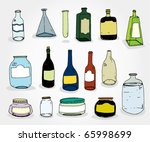 set og hand drawn cans and...   Shutterstock .eps vector #65998699