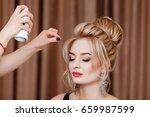 Professional Hairdresser Using...