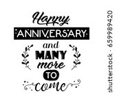 happy anniversary and many more ... | Shutterstock .eps vector #659989420