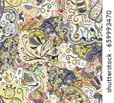 tracery seamless pattern.... | Shutterstock .eps vector #659993470