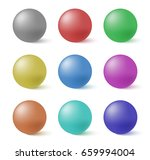 collection of colorful spheres... | Shutterstock .eps vector #659994004