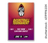 basketball tournament poster... | Shutterstock .eps vector #659996104