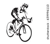 cyclist on his road bike.... | Shutterstock .eps vector #659996110