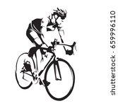 cyclist on his road bike....