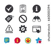 information icons. stop... | Shutterstock .eps vector #660000394