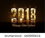 2018 happy new year background.... | Shutterstock .eps vector #660000616