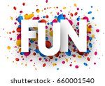 white fun background with shiny ... | Shutterstock .eps vector #660001540