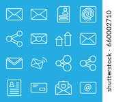 send icons set. set of 16 send... | Shutterstock .eps vector #660002710