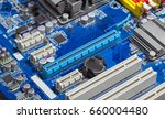close up pci express slots on... | Shutterstock . vector #660004480