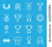 champion icons set. set of 16... | Shutterstock .eps vector #660005884