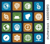 geography icons set. set of 16... | Shutterstock .eps vector #660005893