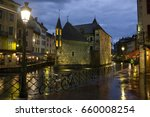 Annecy  Fr  By Night