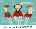 super business team ... | Shutterstock .eps vector #660008578