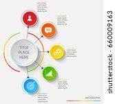 bright infographics of 5... | Shutterstock .eps vector #660009163