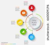 bright infographics of 5... | Shutterstock .eps vector #660009196