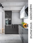 elegant kitchen interior with... | Shutterstock . vector #660010894