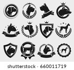 dogs labels and elements set.... | Shutterstock .eps vector #660011719