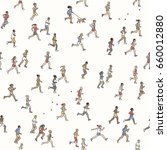 seamless pattern of tiny... | Shutterstock .eps vector #660012880