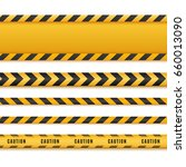 yellow and black danger tapes....   Shutterstock .eps vector #660013090