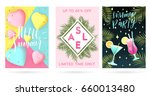 summer greeting cards and... | Shutterstock .eps vector #660013480