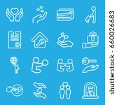holding icons set. set of 16... | Shutterstock .eps vector #660026683