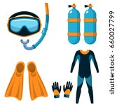 diving stuff. attributes for... | Shutterstock .eps vector #660027799