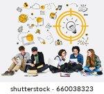 students working network... | Shutterstock . vector #660038323