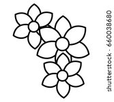 beautiful flowers decorative...   Shutterstock .eps vector #660038680
