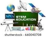 stem education on board and... | Shutterstock .eps vector #660040708