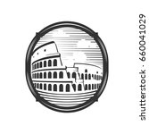colosseum illustration with... | Shutterstock .eps vector #660041029