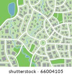 vector city map pattern with... | Shutterstock .eps vector #66004105