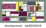 original presentation templates ... | Shutterstock .eps vector #660043324