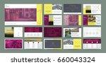 original presentation templates ... | Shutterstock .eps vector #660043324