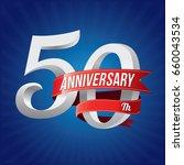 50 years anniversary... | Shutterstock .eps vector #660043534