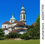 Small photo of Solothurn, Switzerland - 10 July, 2016: the St. Ursus cathedral. The St. Ursus cathedral is a Swiss heritage site of national significance.