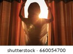young woman stand in the room... | Shutterstock . vector #660054700