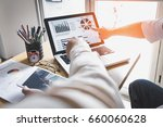 business person analyzing... | Shutterstock . vector #660060628