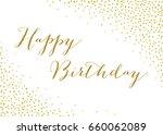 gold confetti background  ... | Shutterstock .eps vector #660062089