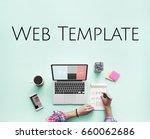 website template content layout ... | Shutterstock . vector #660062686