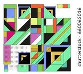 trendy geometric elements... | Shutterstock .eps vector #660063016