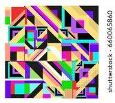 trendy geometric elements... | Shutterstock .eps vector #660065860