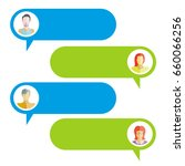 chat bubble  chat dialog on... | Shutterstock .eps vector #660066256