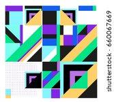 trendy geometric elements... | Shutterstock .eps vector #660067669